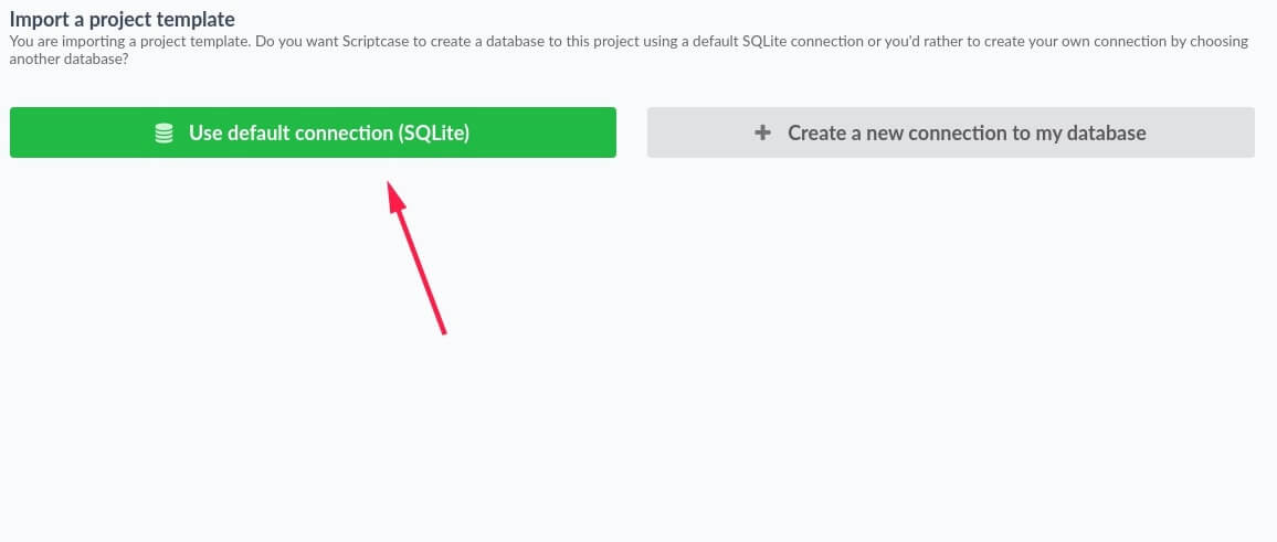 Creating a database connection to the project.